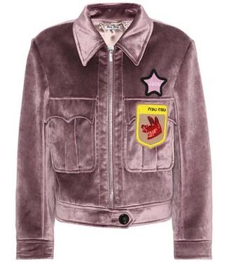 jacket beaded velvet purple