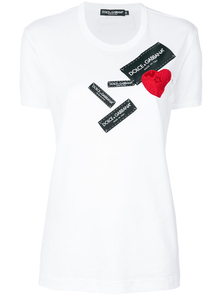 Dolce & Gabbana t-shirt shirt t-shirt heart women white cotton top