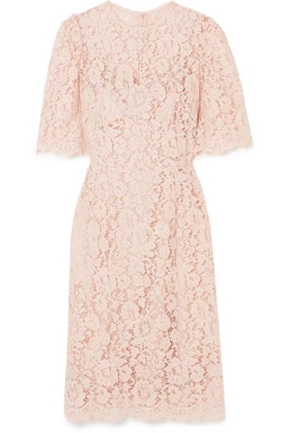 Dolce & Gabbana dress midi dress midi lace blush