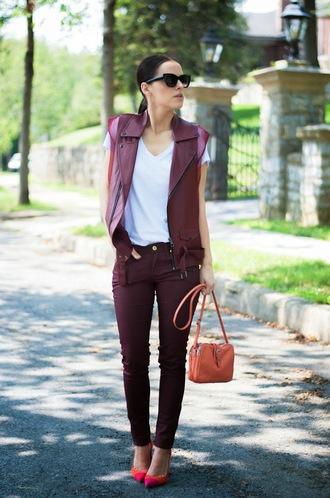 bittersweet colours jacket t-shirt jeans shoes sunglasses bag