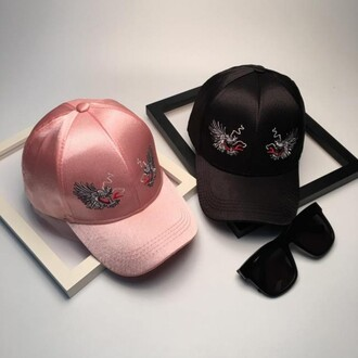hat cap pink black trendy girly cool cute fashion style boogzel