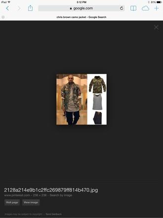 coat chris brown camo jacket