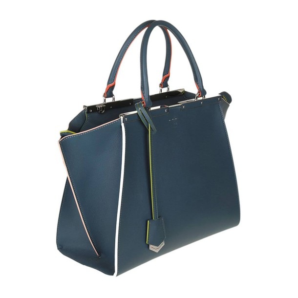 Fendi women handbag blue bag