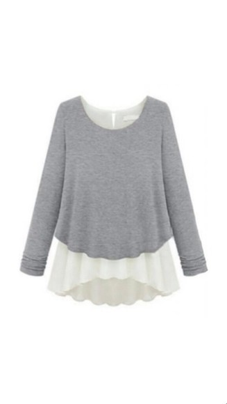 autumn, winter fall sweater blouse chiffon