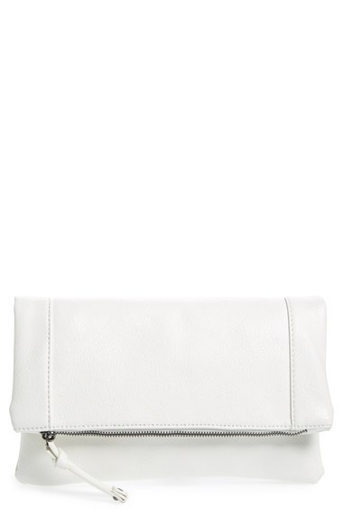 be7c7227178e Sole Society 'Marlena' Faux Leather Foldover Clutch | Nordstrom