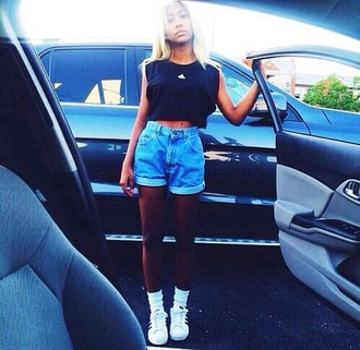 pants shorts jeans blue girly cool shoes