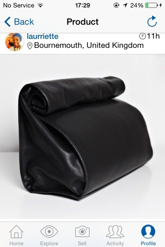 bag leather black zara zara leather lunch bag fashion