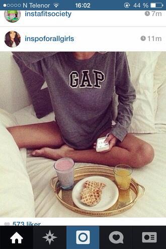 t-shirt gap long sleeves grey girl's clothes