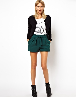 Asos shorts with belted waist detail at asos