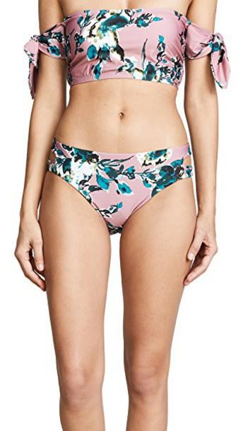 Splendid bikini bikini bottoms pink swimwear