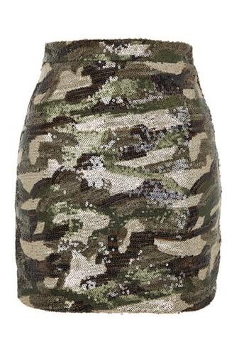 skirt mini skirt mini camouflage green