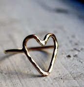 jewels,heart,heart jewelry,ring,rose gold