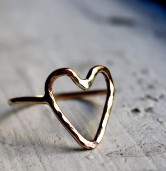 jewels heart heart ring ring rose gold