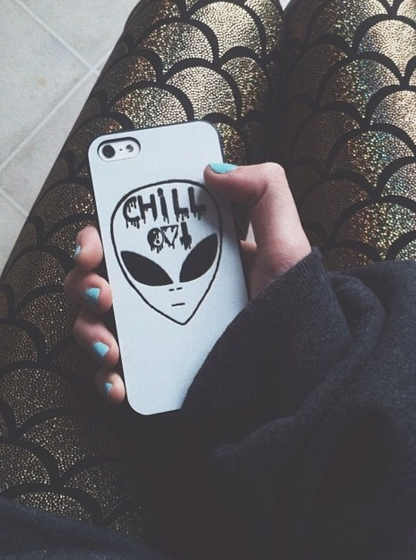 phone cover chill out alien tumblr instagram white black hipster skater urban grunge band mermaid fish scales sea creatures shiny phone cover alternative rock chill phone iphone goth science fabolous phone cover style black and white grunge phone case cover grunge white iphone case alien