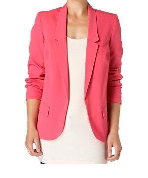 Boxy draped blazer