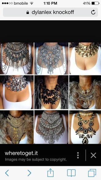 jewels dylanlax knockoffs  ... necklaces multi-layers necklace jewelry necklaces dylanlex vintage chokers diamonds tribal pattern mayan big necklace chunky necklace sparkle jewelry stacked jewelry