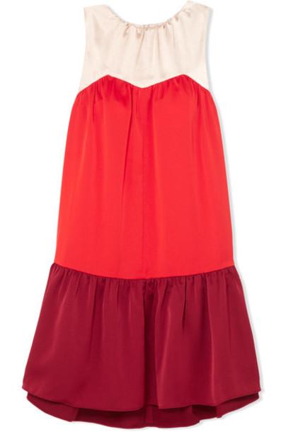 dress mini dress mini satin red