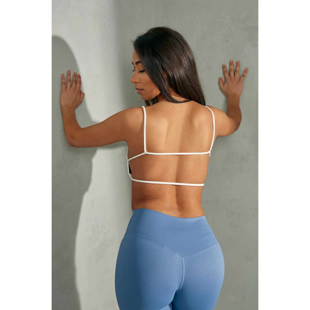 White Back Strap Detail Bralette