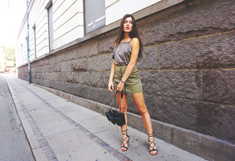 ilirida krasniqi blogger silk top mini skirt