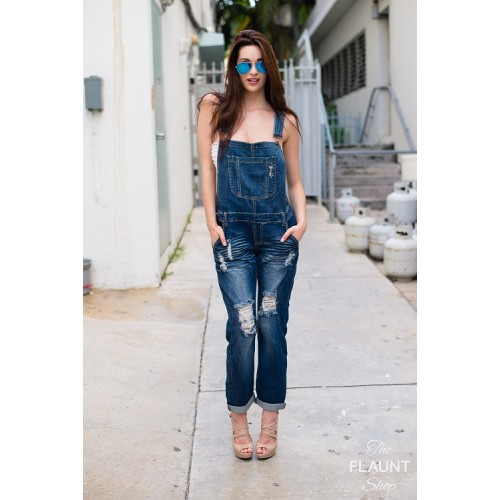Distressed Overalls - ONE LEFT!