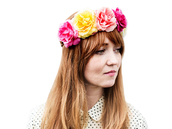 hair accessory,flowers,flower crown,multi color,red hair,hippie,festival,hipster