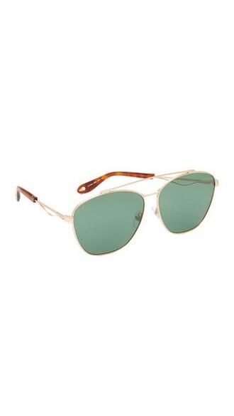 sunglasses aviator sunglasses gold green copper