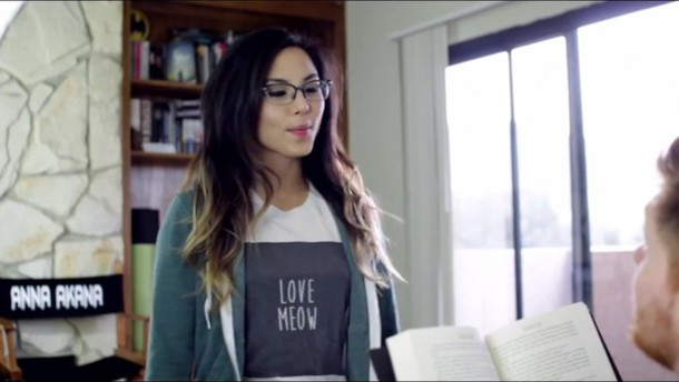 shirt youtuber meow cute cats anna akana t-shirt t-shirt