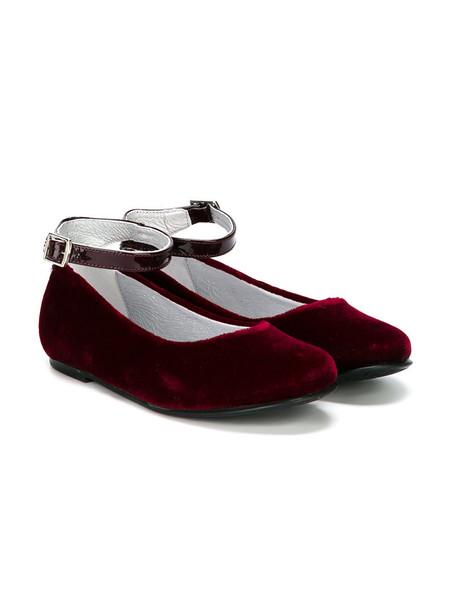 Stuart Weitzman Kids shoes leather velvet red