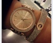 jewels,michael kors watch,michael kors,watch,gold watch