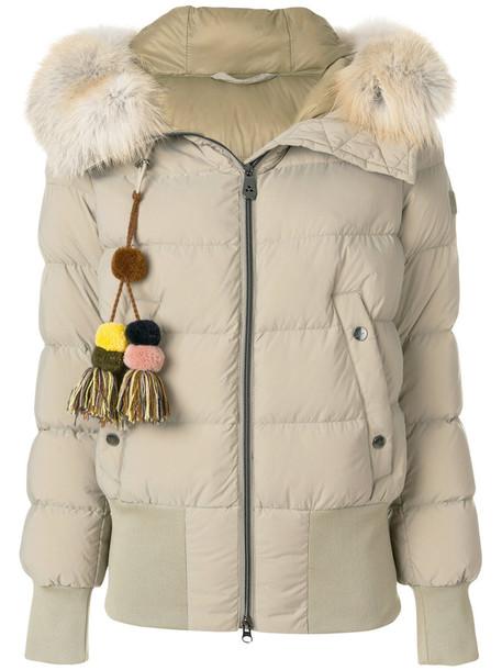 Peuterey jacket puffer jacket fur tassel fox women nude