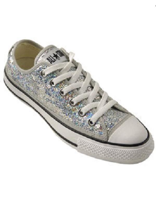 converse all lo glitter athletic shoe silver at shi