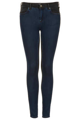 MOTO Colour Block Leigh Jeans - Jeans  - Clothing  - Topshop