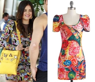 lucy hale comics pretty little liars bag dress