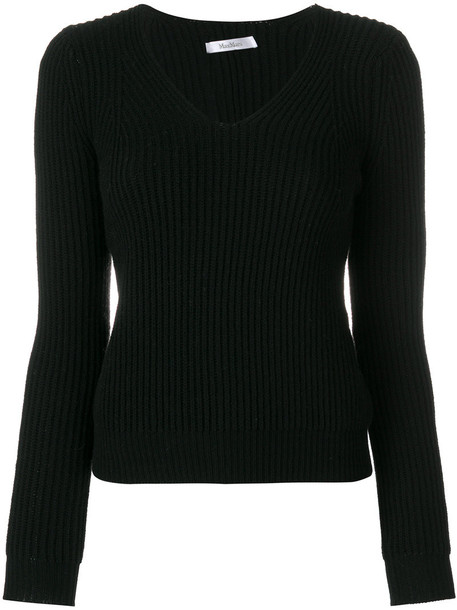 Max Mara jumper women black wool sweater