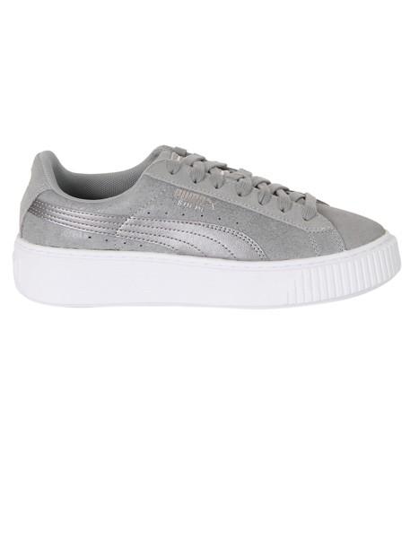 puma sneakers platform sneakers suede grey shoes