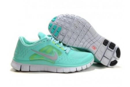 Authentic Nike Free Run 3 Womens Shoes Blue Silver Top Fashion