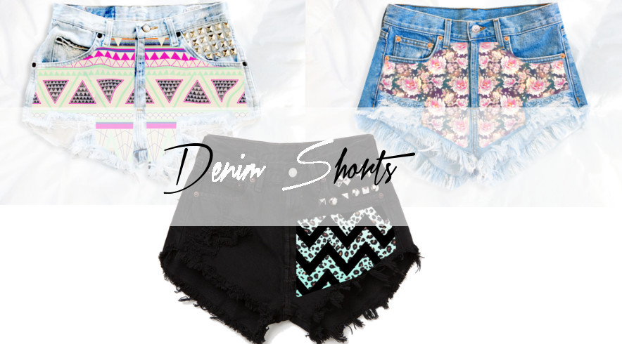 High waisted denim shorts, printed converses, graphic crop tops