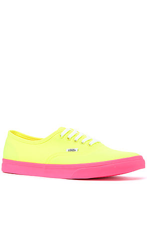 Vans Footwear Sneakers Authentic Lo Pro Sneaker in Neon Yellow and Virtual Pink   -  Karmaloop.com