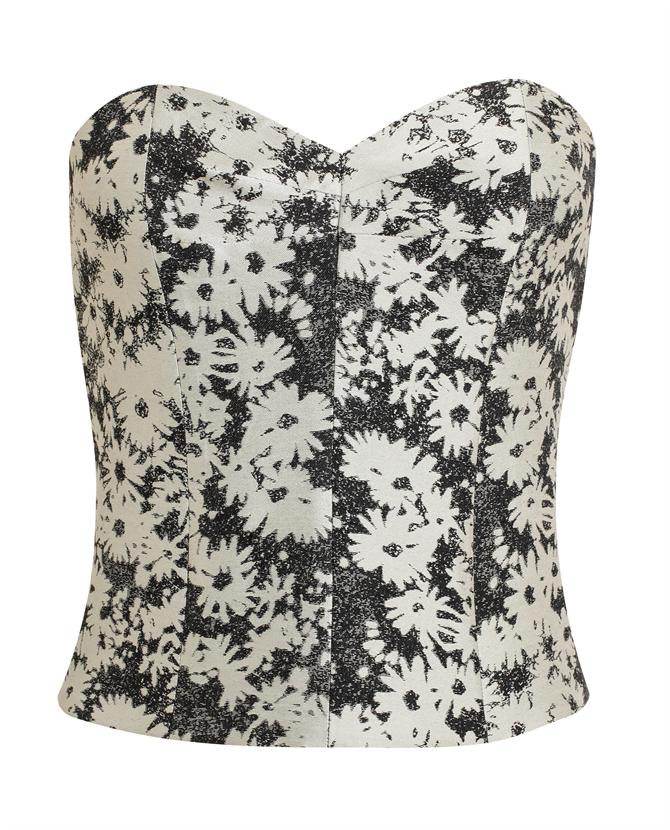 STELLA MCCARTNEY | Floral Jacquard Cotton Bustier | Browns fashion & designer clothes & clothing