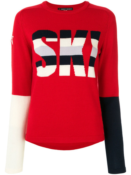 Perfect Moment sweater women red