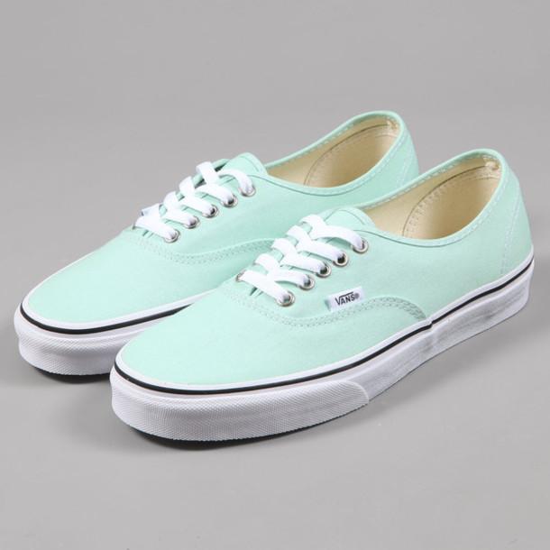 Vans Pastel Colours Shoes Vans Pastel Green
