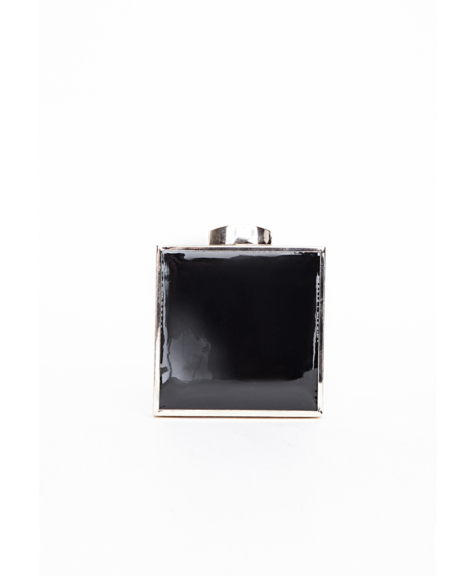Missguided - Jamila Small Patent Square Clutch Bag Black