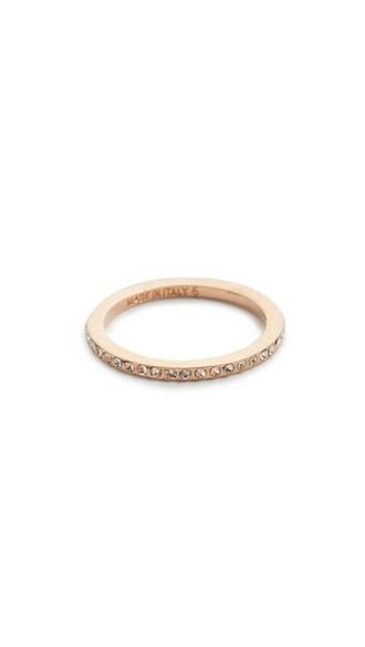 mini rose gold rose clear ring gold jewels