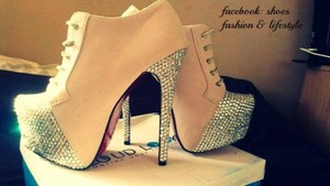 shoes glitter high heels