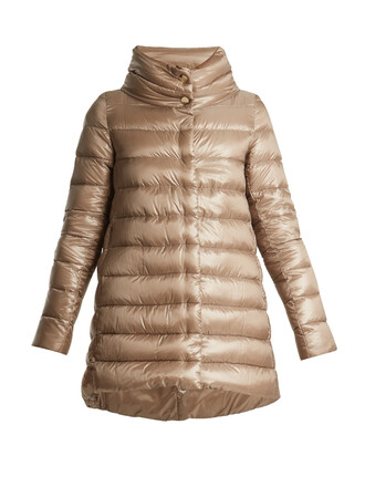 jacket down jacket quilted beige