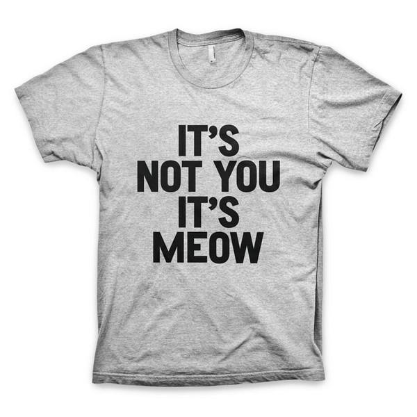 t-shirt cats meow meow shirt meow top cat shirt cats cats typography t-shirt women quote on it