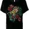 P.a.r.o.s.h. - sequin tiger t-shirt - women - silk/polyester/viscose - s, black, silk/polyester/viscose