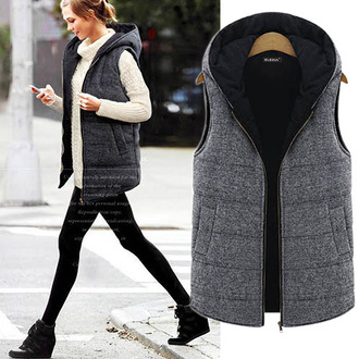 clothes vest top fashion warm girl winter jacket popular noble and elegant classy beautiful beauty women preppy cool waem vest sexy jumpsuit new