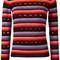 Bella freud 'striped love heart' jumper, women's, size: medium, black, polyamide/wool/metallic fibre