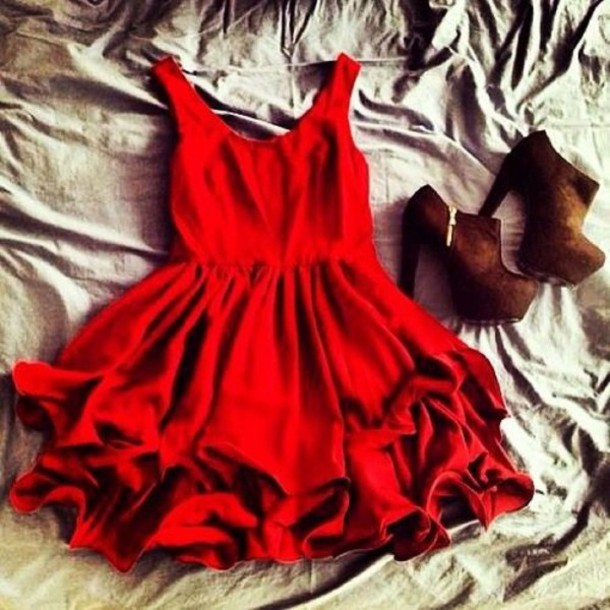 dress red shoes high heels black red dress clothes womens dress rose
